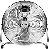 "MYLEK 18"" High Velocity Floor Fan Chrome Cool Cold Air Circulator 3 Speed"