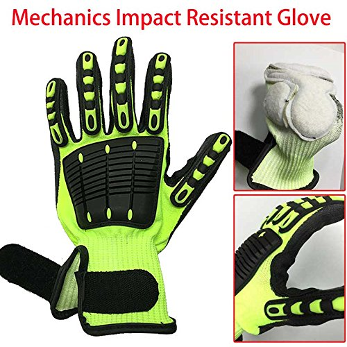 Generic NMSafety Anti Vibration Oil Safety Glove Shock Absorbing Mechanics Impact Resistant Work Glove 9L DY1350AC