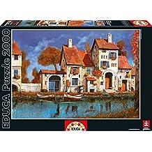 Puzzles Educa - Puzzle La Cascina Sul Lago, Guido Borelli, 2000 piezas (16316)