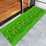 Tappeto A Palla Piccola-Tappeti e tappeti creativi da Giardino in 3D con Stampa di Fiori per tappeti da Camera da Letto Soggiorno Tappeto Cucina Bagno Tappetini Antiscivolo 60X160CM