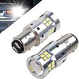 1157 P21/5w Bay15d 12V 24V 30V LED Ampoules Pour Voiture et moto, 1300LM, Avec Projecteur Objectif, 6000K Blanc Pour les feux