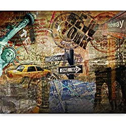 murando Papier peint intissé 350x270 cm Décoration Murale XXL Poster Tableaux Muraux Tapisserie Photo Trompe l'oeil New York 10040904-56