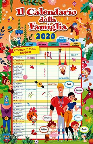 Calendario agenda famiglia 2020 (29x44)