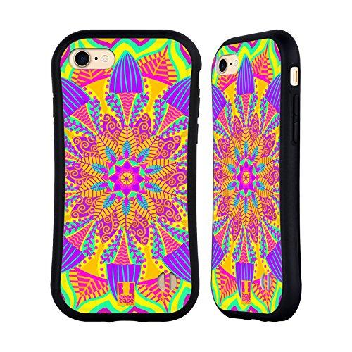 Head Case Designs Sonnenschein Gelb Mandala Blumen Hybrid Hülle für Apple iPhone 7 / iPhone 8 (Blume Backplate)