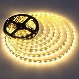LE Lighting EVER Ruban LED Lumineux 5M, SMD 5050 300 LEDs, Blanc Chaud, Bande Lumineuse Flexible pour Décor Intérieure, Mariage, Noël, TV, Miroir, Cabinet, Escalier, Vitrine, Balcon etc.