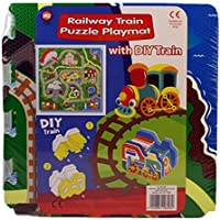 A to Z Railway train Puzzle Playmat With D I Y train by A to Z - Peluches y Puzzles precios baratos
