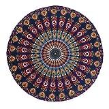 Demiawaking Arazzo Mandala Rotondo Telo Mare Asciugamano Spiaggia Tovaglia Arazzo da Parete Tappetino da Picnic Yoga 150 x 150 cm (Stile 3)