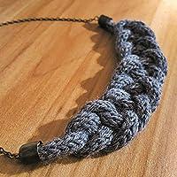 Necklace Collezione Filo in lana bio Colore grigio melange