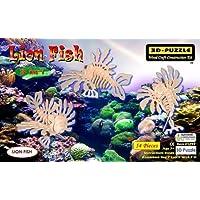 Comparador de precios Puzzled Lion Fish 3 In 1 3D Natural Wood Puzzle by Puzzled Inc - precios baratos