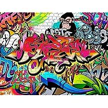 61AMdWl0e1L. AC US218  - Graffiti Tapete Jugendzimmer