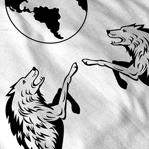 Wolf Planet Platz Tier Wolf Voll Mond Damen S-2XL Muskelshirt   Wellcoda Weiß