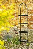 Rankgerüst aus Volleisen Obelisk SCHWARZ H: 180cm, Rankgitter Rankhilfe