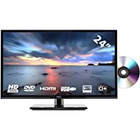 HKC 24C2NBD (24 Zoll) LED Fernseher mit DVD-Player (HD Ready, Triple Tuner, CI+, HDMI, Mediaplayer via USB 2.0)