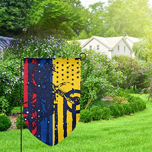N/A Amerikanische Kolumbien-Flaggen-Motocross-Garten-Flaggen-Modegarten-Ausgangsflaggen-Demonstrations-Ausgangsflagge 12,5 x 18 Zoll Filet -