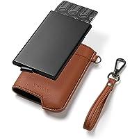 VULKIT Credit Card Holder RFID Blocking Mens Leather Wallet Pop Up Slim Bank Card Holder with Money Pocket Keychain for…