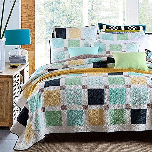 Reine Baumwolle Tröster Set, Flickenteppich Set, Tagesdecken, 3-teilig, coverlets, King -