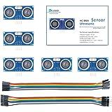 ELEGOO Sensor Ultrasonidos HC-SR04 Kits de Sensores de Distancia por Ultrasonidos Compatible con R3 MEGA2560 Raspberry Pi, Ho