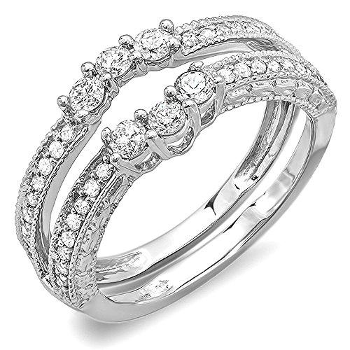 DazzlingRock Collection  -  14 Kt  Weißgold Rundschliff   I-J Diamant  - Diamond Wrap Guard