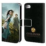 Head Case Designs Offizielle Outlander Staffel 1 Poster Schlüssel Kunst Brieftasche Handyhülle aus Leder für Apple iPhone 4 / iPhone 4S
