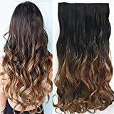 Neverland Beauty 24' (60 cm) extensiones de cabello cabeza clip en extensiones de pelo One Piece Ondulado with 5 clips #6