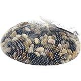 Rayher 8808104 galets de rivière, décoration florale&jardin, filet 1kg, marron m