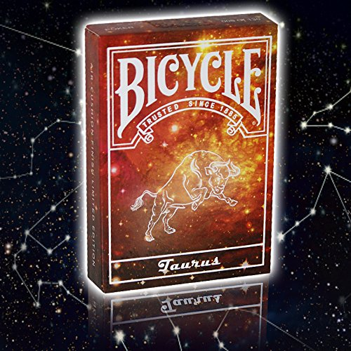 Bicycle Constellation Series Playing Cards - Taurus / Stier, LIMITED EDITION Playing Cards, Pokerkarten + 3 Look and Feel - Karten