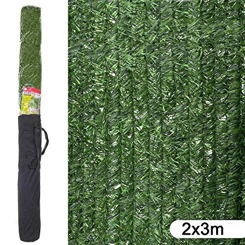 Ldk Garden Seto Artificial de ocultación para jardín de plástico Verde 3 x 2 m