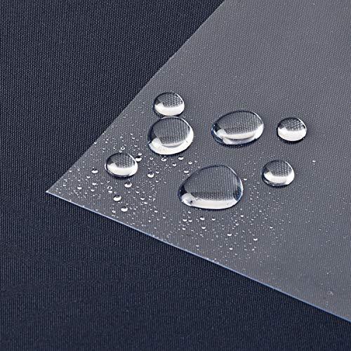 laro Tischfolie Tischdecke Transparent Durchsichtig Abwaschbar Garten-Tischdecke Tischschutz-Folie PVC Plastik-Tischdecken Wasserabweisend Eckig 0,3 mm Dicke Meterware |07|, Größe:100x140 cm