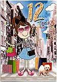 Geburtstagskarte für zwölf (12) Jahr Mädchen–Kostenloser 1st Class Post (UK)