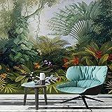 Fonds d'écran personnalisés muraux style européen rétro tropicales Rain Forest Plant photo paysage peinture murale peintures murales salon papier peint, 300 × 210 cm