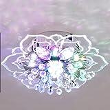 9W Moderne LED Plafonnier Forme De Fleur Créative Lampe En Cristal Hallwaylights Chambre Balcon Lampe Plafond Éclairage D'ent