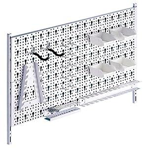 Element System 11300-00004 - Pannello forato per attrezzi, in metallo, comprensivo di set con 19 pezzi e ganci, viti e… 61ANDCsOSUL. SS300