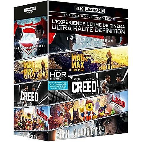 Coffret 4K Ultra HD: Batman v Superman + Mad Max Fury Road + Creed + San Andreas + La grande aventure Lego
