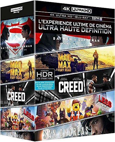 Coffret 4K Ultra HD: Batman v Superman + Mad Max Fury Road + Creed + San Andreas + La grande aventure Lego [4K Ultra HD + Blu-ray + Digital UltraViolet]