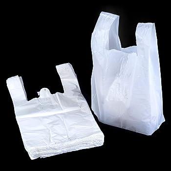 dd4a76d932b80 Lot de 100 sacs en plastique solides avec anses - 27,9 x 43,2 x 53,3 cm - 14  microns - Unibags
