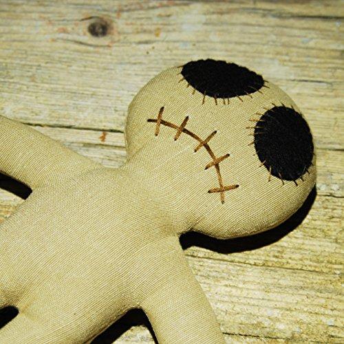Dead Eye Doll sand Set - Voodoo Puppe mit Voodoo Nadel und Ritual-Anleitung -