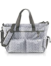 BABYHOOD X-Large Designer Baby Diaper Bag With 12 Multi-Use Pockets, Stroller And Shoulder Straps, Insulated Bottle...