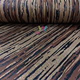 P&S International Opal Streifenmuster Tapete Glitzer Motiv Modern Geprägt - Schwarz Bronze 02495-40