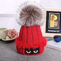 Pixnor Donne Crochet del Knit Beanie cappello sci Ball Inverno