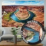 Fototapete Grand Canyon Wandbild XXL USA Dekoration Horseshoe Bend Landschaft Amerika Arizona Schlucht Natur Colorado River | Foto-Tapete Wandtapete Fotoposter Wanddeko by GREAT ART (210 x 140 cm)