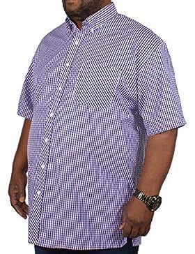 Spionaggio Big da uomo a maniche corte camicia a quadretti rosa 2X L 3X L 4X L 5X L 6X L 7X L 8X L
