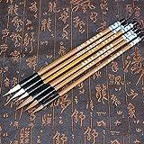 NANAD - Set di 6 pennelli per Scrittura e Calligrafia Cinese, a Forma di Nuvole, Ideali per Studenti di Scuola, Calligrafia