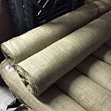 "1m Long Hessian Fabric 10oz Natural Jute Burlap - Craft Sacking Upholstery Wedding 54"" Wide"