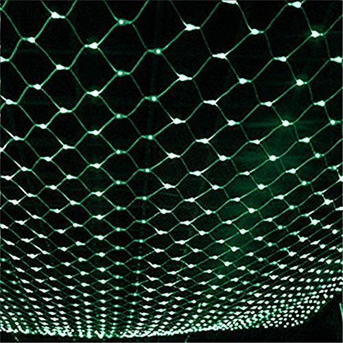 He-shop Fairy Net Licht Wasserdicht 8 Modi Lichterketten Indoor Outdoor Halloween Weihnachtsfeier Hochzeitsdekoration 110-240 V Warmweiß/grün (Halloween-outdoor Net Lichter)