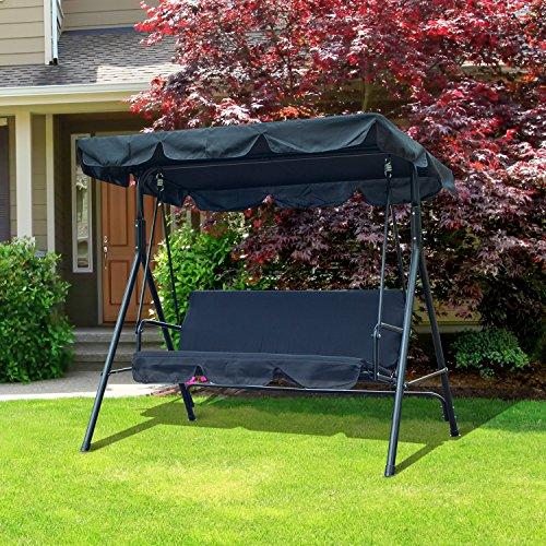 Outsunny Balancelle balançoire banc fauteuil de jardin