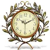 Soledi Horloge murale européenne Vintage fabriquée à la main 3D Roue dentée décorative en bois (couleur cuivre)