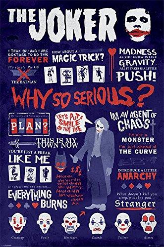 """The Dark Knight Joker """"Quotographic"""" Maxi Poster, in legno, colore: multicolore"""