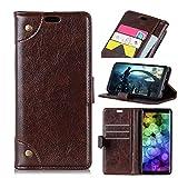 Huawei Honor 7C Hülle Handyhülle Schutzhülle, Yadasaro Ultra Slim Brieftasche Case Bookstyle Brieftasche Hülle Flip Leder PU Weiche Silikon Flexible Hülle Stoßfest Shockproof Vollschutz Schutzhülle fur Huawei Honor 7C — Kaffee