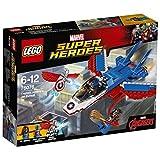 Lego 76076 Marvel Super Heroes Captain America: Düsenjet, Superhelden-Spielzeug