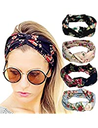 DRESHOW 1950's Vintage&Modern Style Elastic Women Turban Headbands Twisted Cute Hair Band Accessories